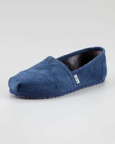Corduroy Slip-On, Navy