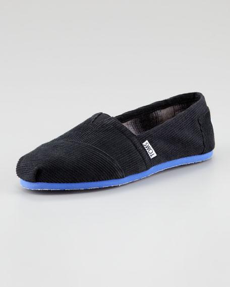 Corduroy Slip-On, Black