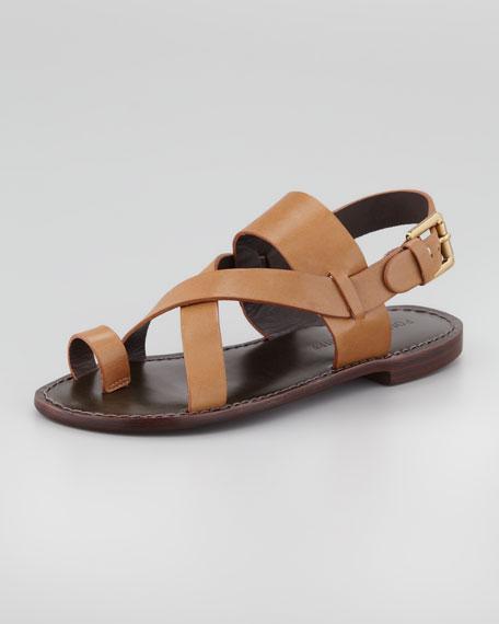 Jamary Toe-Ring Link Sandal, Brown
