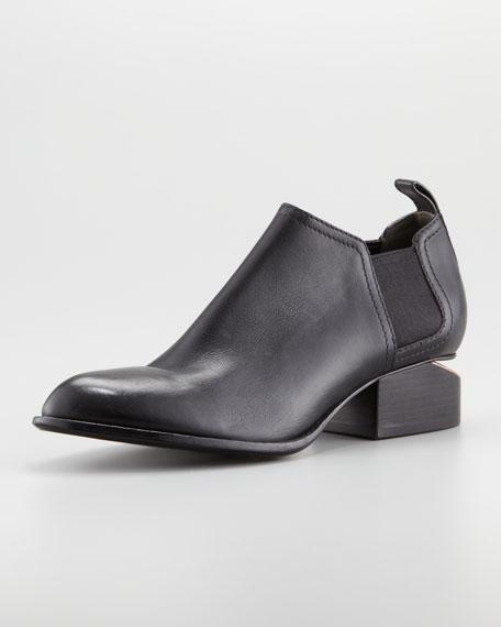Kori Calfskin Short Ankle Bootie, Black