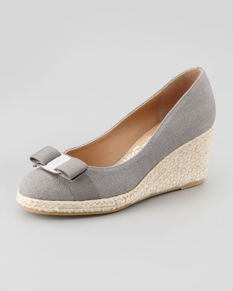 Darly Vara Espadrille Wedge, Elephant