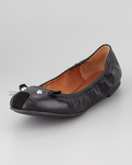 Soft Mouse Ballerina Flat, Black