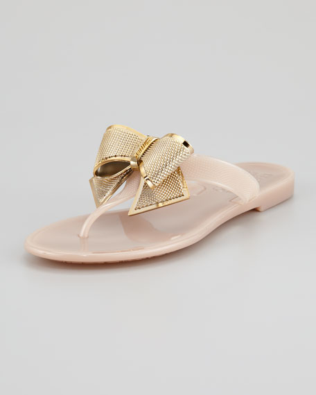 Salvatore Ferragamo Rubber Bow Sandals cheap sale top quality cheap tumblr shopping online outlet sale buy cheap affordable buy authentic online f0Zo1Tf