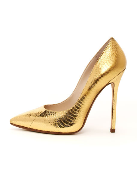 Aberly Metallic Genuine Snake Pump