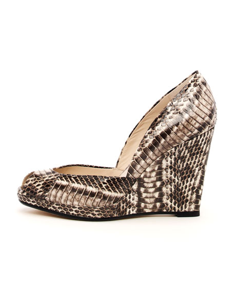 Vail Snakeskin Wedge