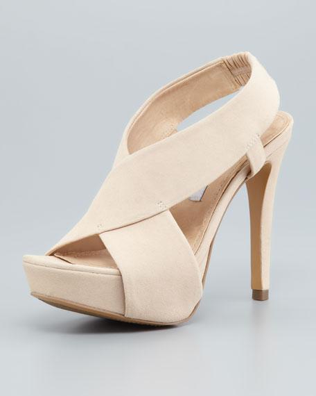 Zia II Crisscross Sandal, Nude