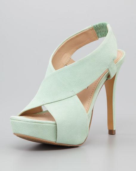 Zia II Crisscross Sandal, Green Haze