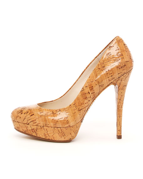 Cyprien Shiny Cork Pump