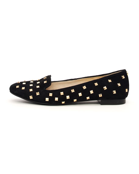 Aria Studded Suede Flat