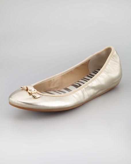 Bion Napa Ballerina Flat, Platino