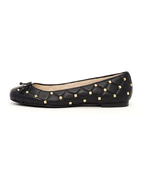 Quilted Studded Flat