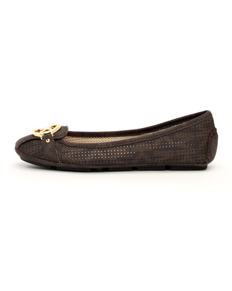 Fulton Perforated Logo Moccasin
