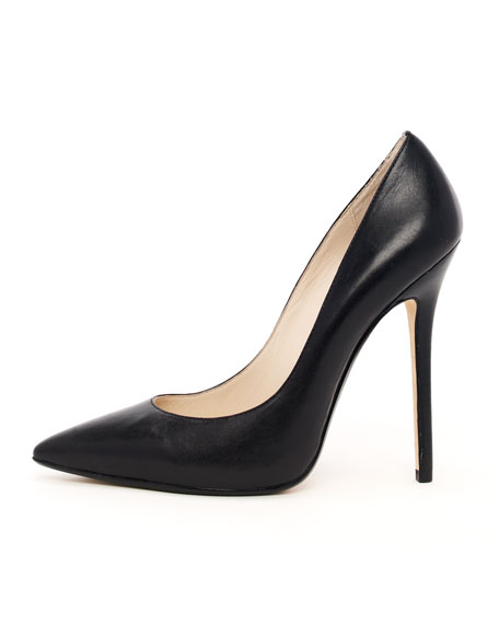 Aberly Leather Pump, Black