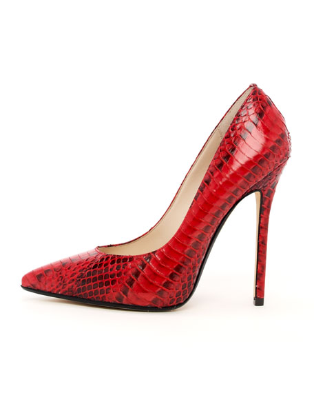 Aberly Snake-Embossed Pump