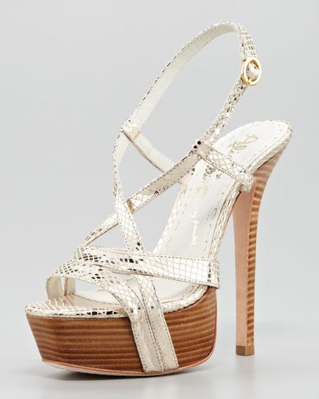 Leia Metallic Platform Sandal
