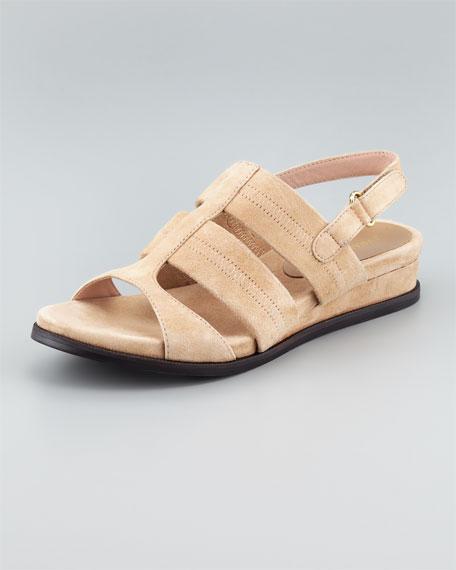 Shirley Stretchy Slingback Sandal, Beige