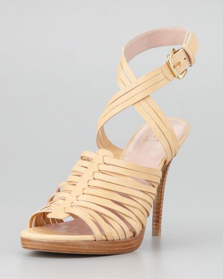 Arriba Huarache Ankle-Wrap Sandal, Pita