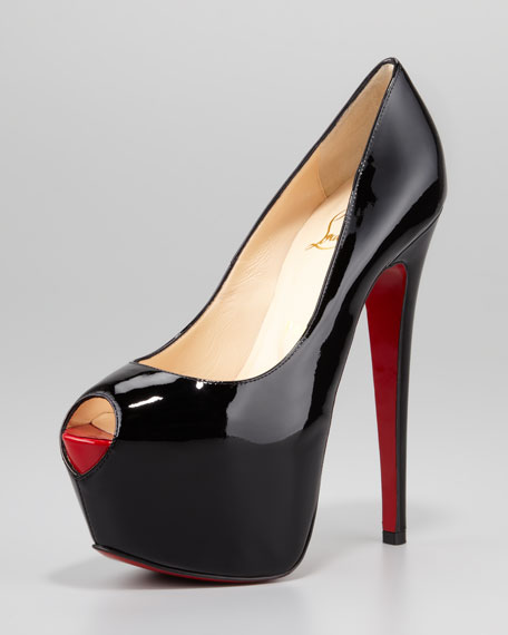 Highness Platform Red Sole Pump, Black