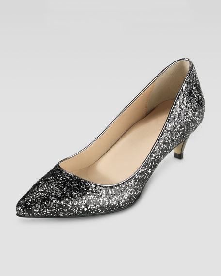 Air Juliana Glitter Pump, Silver