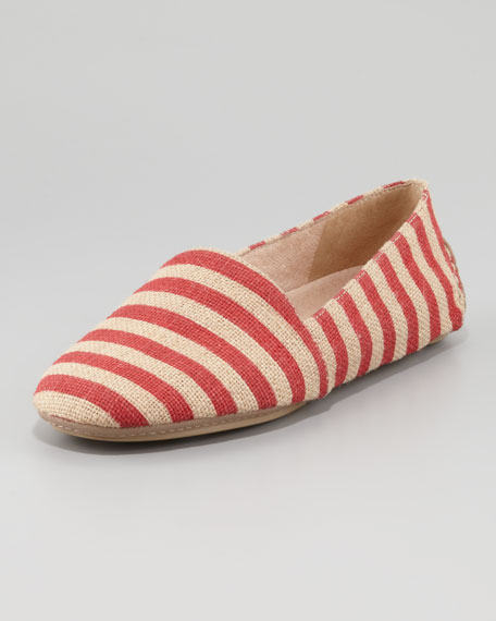 Striped Canvas Slip-On Loafer