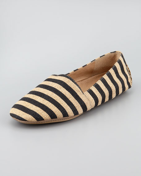 Map Striped Canvas Slip-On Loafer