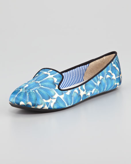 Yasmine Satin Smoking Slipper
