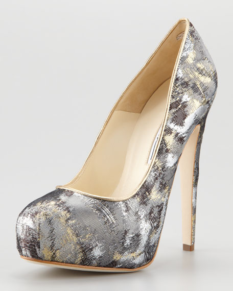 Brian Atwood Maniac Graffiti Metallic Pump