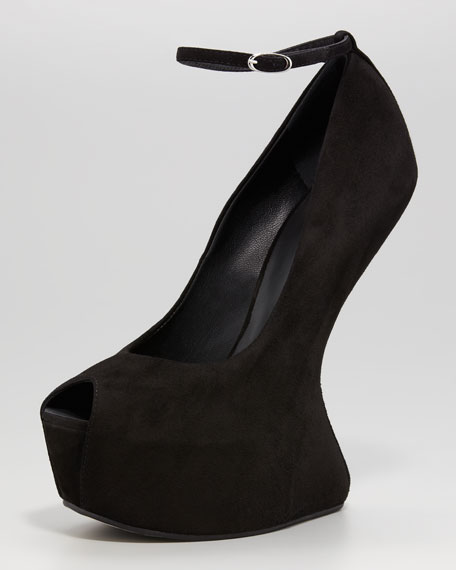 No-Heel Ankle-Strap Pump