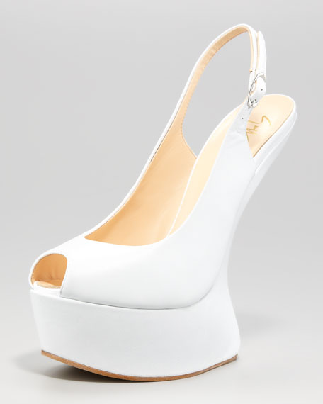 No-Heel Leather Slingback