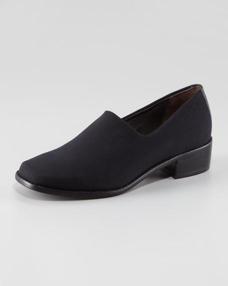 Elastic Crepe Loafer