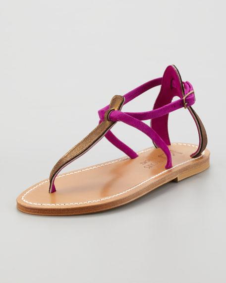 Buffon 2-Tone Strappy Thong Sandal