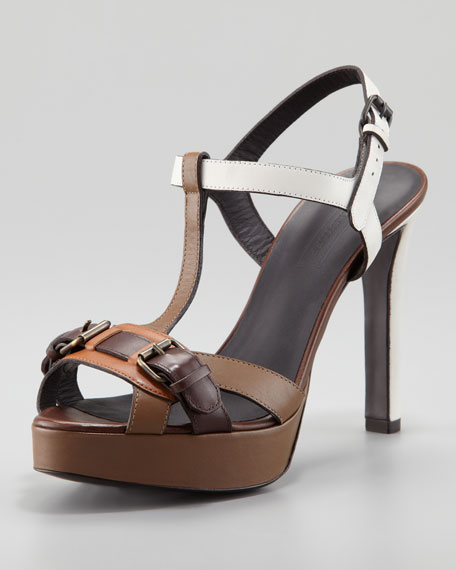 Buckled T-Strap Sandal