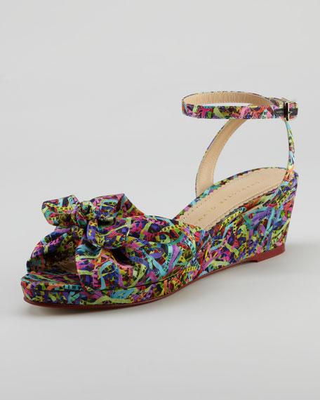 Alexa Printed Wedge Sandal