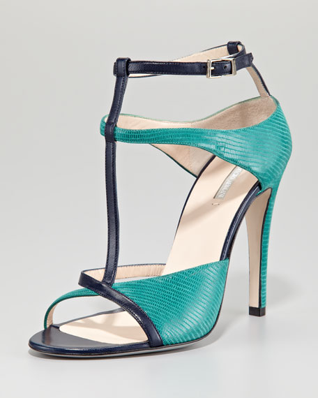 T-Strap Open-Toe Pump