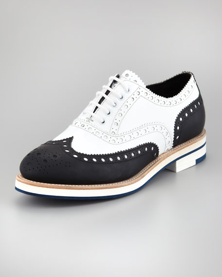 Two-Tone Wing-Tip Oxford