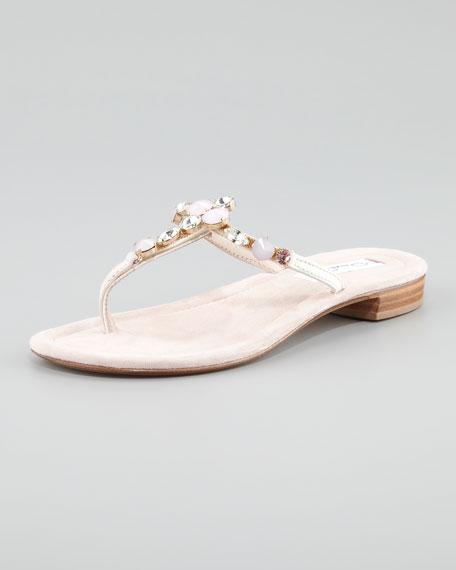 Tropezia Crystal Flat Thong Sandal