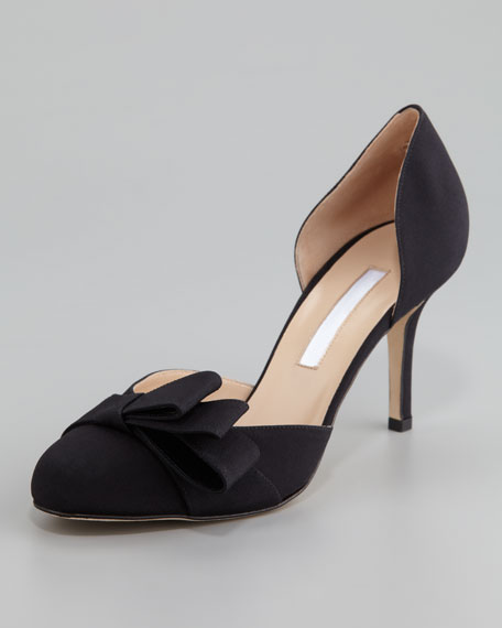 Miss Dodo Crepe de Chine Pump, Black