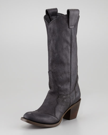 Loby Cowboy Boot, Black