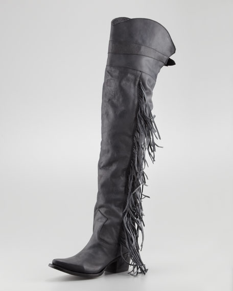 Butch Knee Boot, Black
