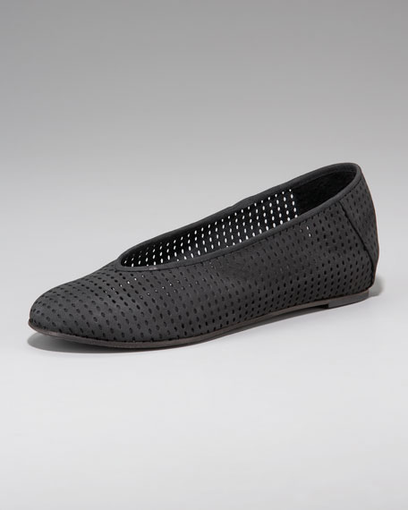 Perforated Ballerina Flat