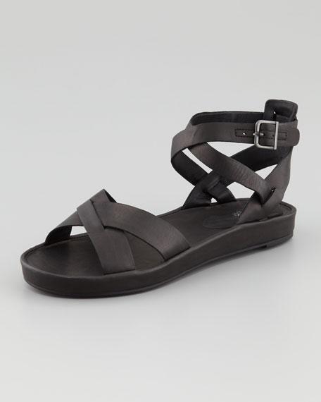 Ply Crisscross Ankle-Strap Sandal