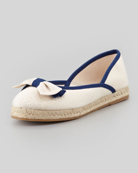 Flat Canvas Bow Espadrille