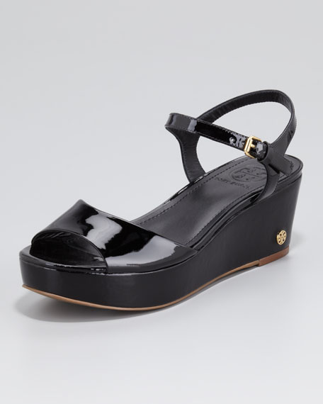 Abena Flatform Wedge Sandal, Black