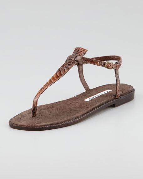 Luette Snakeskin Strap Sandal