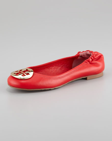 Reva Leather Ballerina Flat, Lobster