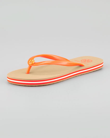 Neon Striped Rubber Flip-Flop