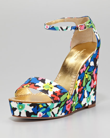 dabney floral fabric wedge sandal