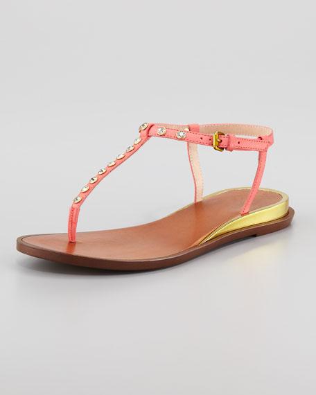 Myra Jewel Thong Sandal, Pink
