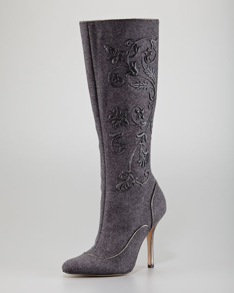 Elo Embroidered Felt Boot