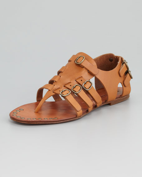 Galatea Buckle Thong Sandal, Maple